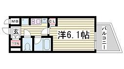 EC神戸県庁前[3階]の間取り