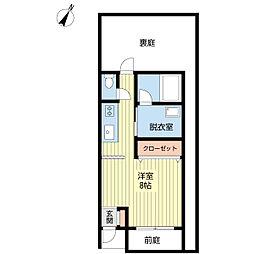 新潟県新潟市中央区学校町通の賃貸アパートの間取り