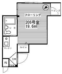 東京都世田谷区三宿1丁目の賃貸マンションの間取り