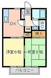 ウィンディア赤坂B棟[1階]の間取り
