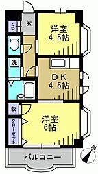 ホワイトホルン[2階]の間取り
