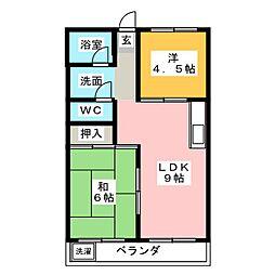 コーポ牛田[2階]の間取り