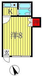 ヨシダコーポ[201号室]の間取り