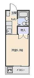 ビューラー三ケ島[108号室号室]の間取り