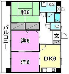 緑台第1マンション[102 号室号室]の間取り