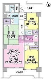 ノーブル横浜岡野公園[600号室]の間取り