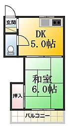 第1司荘[15号室]の間取り