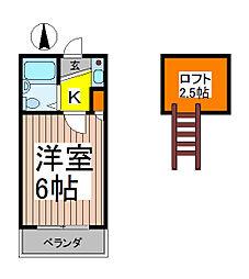 ピュア西川口[205号室]の間取り