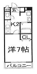 愛知県名古屋市瑞穂区東栄町2丁目の賃貸マンションの間取り