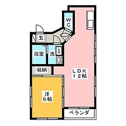 コーポS2[3階]の間取り
