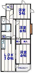 フラワーベール四番館[3階]の間取り