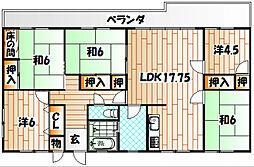 大蔵三丁目団地[3階]の間取り