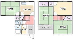 [一戸建] 大阪府寝屋川市上神田1丁目 の賃貸【/】の間取り