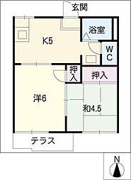 コーポTI[1階]の間取り