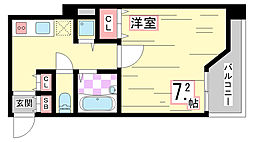 兵庫県神戸市須磨区千守町1丁目の賃貸マンションの間取り