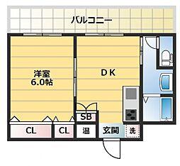 新深江池田マンション[1101号室号室]の間取り