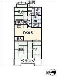 ビレッジハウス木場タワー[2階]の間取り