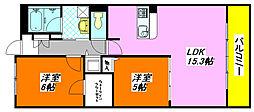 ソリエ・ベーネ 107号室[1階]の間取り