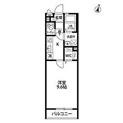wisteria[104号室]の間取り
