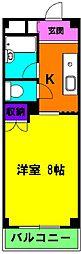 静岡県浜松市中区佐藤2丁目の賃貸マンションの間取り