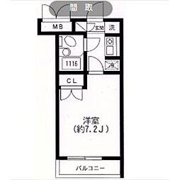 スカイヒル生田[307号室]の間取り