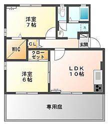ソレイユタカラ[1階]の間取り