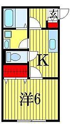 アッパルタメント・ロッソ[1階]の間取り