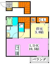 仮称)D-room東船橋1丁目[202号室]の間取り