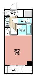 ピュアドームパレス博多(401)[401号室]の間取り