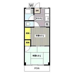 神奈川県横浜市港北区大曽根3の賃貸マンションの間取り