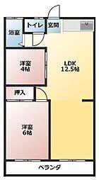 河合住居[2階]の間取り
