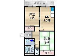 メゾンI.S.Y[1階]の間取り