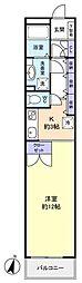 第1アイディール八千代[6階]の間取り