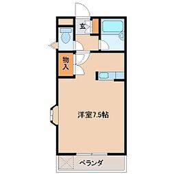 コンフォート木花 B棟[1階]の間取り