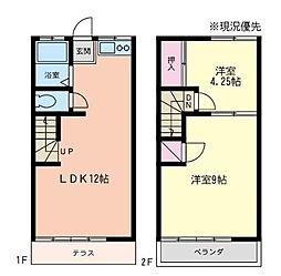 神奈川県相模原市南区松が枝町の賃貸アパートの間取り