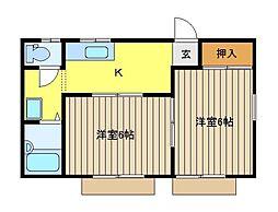 ロイヤルハイツC棟[1階]の間取り