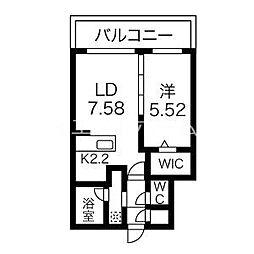 癒禅32 2階1LDKの間取り