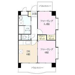 福岡県福岡市東区松島3丁目の賃貸マンションの間取り