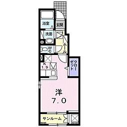 バス 遠鉄バス浜松学院高校下車 徒歩2分の賃貸アパート 1階1Kの間取り
