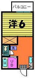 聚楽(じゅらく)ハイツ[2−C号室]の間取り