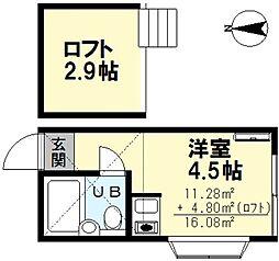 シャトウ井荻[2階]の間取り