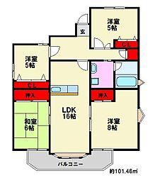 ハイフォルム寺塚II[624号室]の間取り