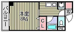 シャルル泉大津[402号室]の間取り
