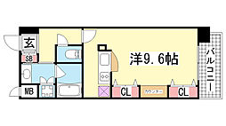 KAISEI新神戸第二WEST[4階]の間取り