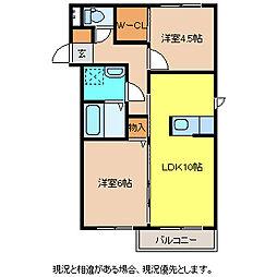 T'sスクエア[2階]の間取り