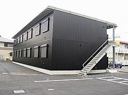 栃木県佐野市高萩町の賃貸アパートの外観