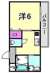 ハウスアイ立花I[3階]の間取り