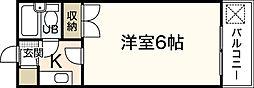 エステート19古江東[2階]の間取り