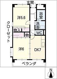 マンションファーストミュー[2階]の間取り