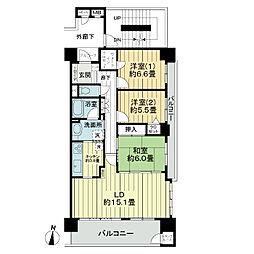 ライオンズマンション北四番丁[11階]の間取り